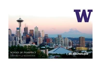 image: Seattle skyline with UW logo
