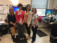 Photo: Providence Sacred Heart Medical Center's Mary Gates, pharmacy technician; Andrea Renford, clinical pharmacist supervisor; Bridget Eller, pharmacist; April Wash, pharmacy technician
