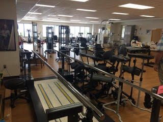 rehabilitation equipment room at St. Luke's